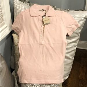 NWT Pink Burberry shirt with 6 buttons